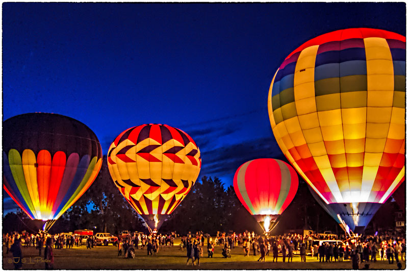 Image result for hot air balloon at night